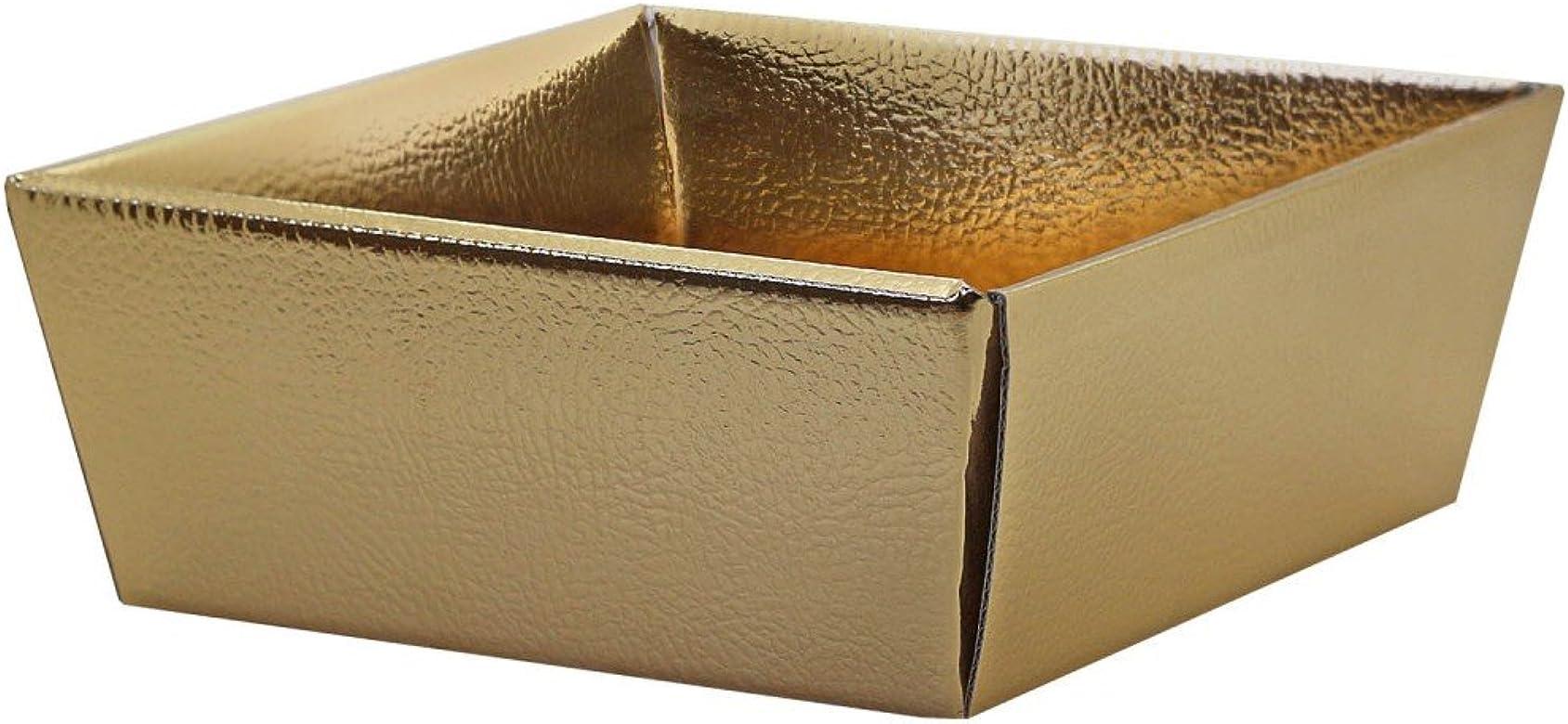 tumundo Caja Plegable Estable Cartón Almacenamiento Caso Bolsa Joyería Organza Embalaje Caja Regalo Cumpleaños Oro Brillante, modelo:1 Stück/1 piece: Amazon.es: Joyería