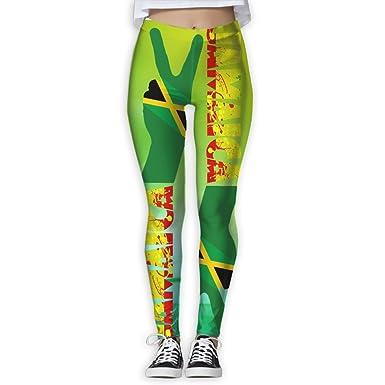 1b6c951824a54 Haythuerme Jamaican Peace Jamaica Flag Reggae Splash Ladies Running Yoga  Leggings at Amazon Women's Clothing store: