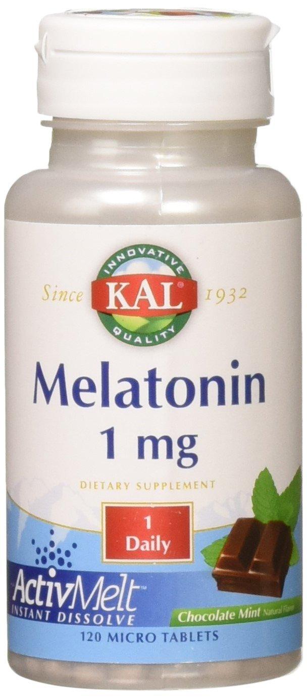 Amazon.com: KAL Melatonin Activmelt, Chocolate Mint, White, 120 Count: Health & Personal Care