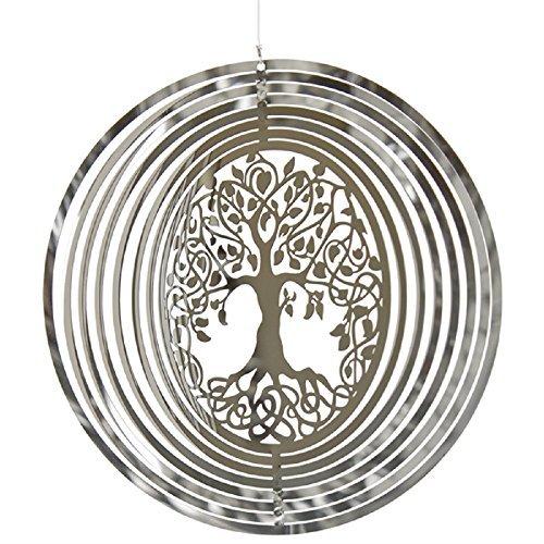 Woodstock Shimmers Metal Tree of Life Sun Catcher Spinner Outdoor Garden SHNTL