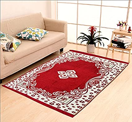 HOME ELITE Multicolor Ethnic Design Velvet Touch Carpet ( 140x210 cm) , RG-CRT-430