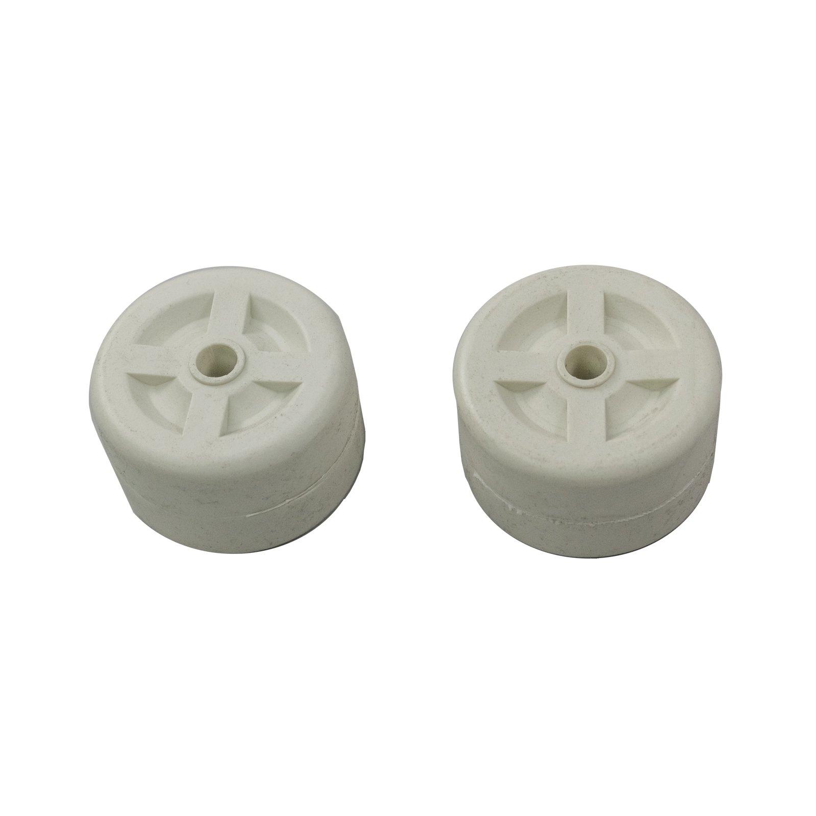 Patio Heater Hiland 2 Piece Plastic Wheels In White FCPTHP-PW-WT