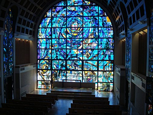 University 16 Stained Glass (Home Comforts LAMINATED POSTER Pepperdine University Stained Glass Stained Glass Poster 24x16 Adhesive Decal)