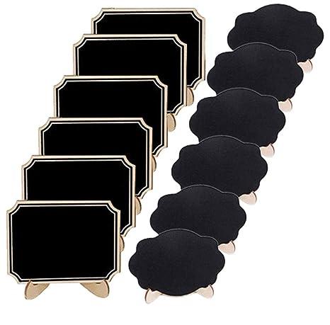 Amazon.com: Paquete de 12 minipizarras de pizarra con ...
