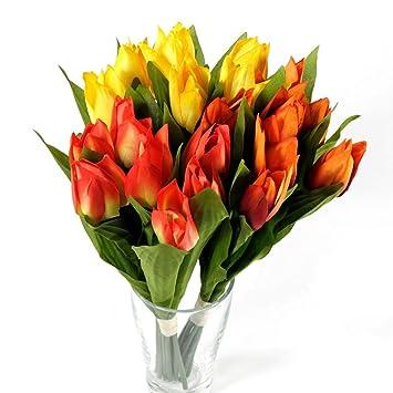 Tulpen Blumenstrauß Tulpenbund Tulpenstrauß mit 7 Tulpen gelb