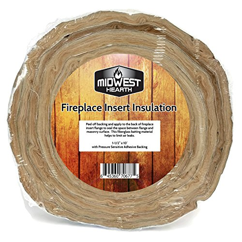 Midwest Hearth Fireplace Insert Insulation 10' Roll w/ Self Adhesive Backing