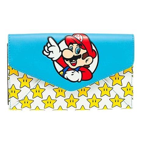 Oficial de Super Mario Bros y Estrellas Envolvente Embrague Monedero - Nintendo Nuevo