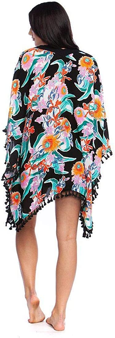 Trina Turk Womens Tropic Wave Kimono Cover-Up