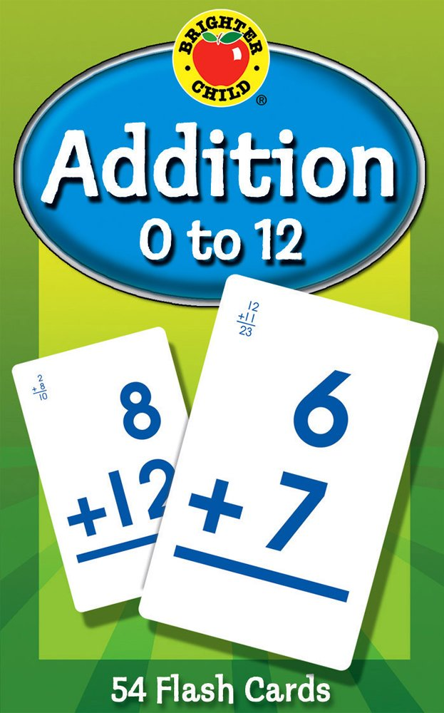 Addition 0 to 12 (Brighter Child Flash Cards): Brighter Child ...