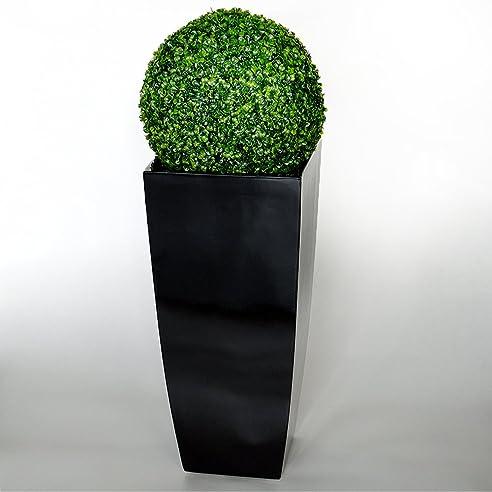 PLANTARA XXL Fiberglas Blumentopf Pflanzkübel schwarz glänzend ...