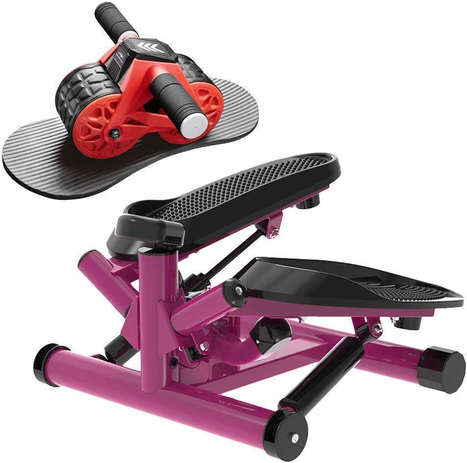 leikefitness Twist Stair Stepper 6610(Purple) and Ab Carver Wheel Roller 1300 Bundle
