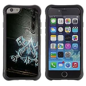 KROKK CASE Apple Iphone 6 - ace of spades work mechanic wood pattern - Rugged Armor Slim Protection Case Cover Shell wangjiang maoyi