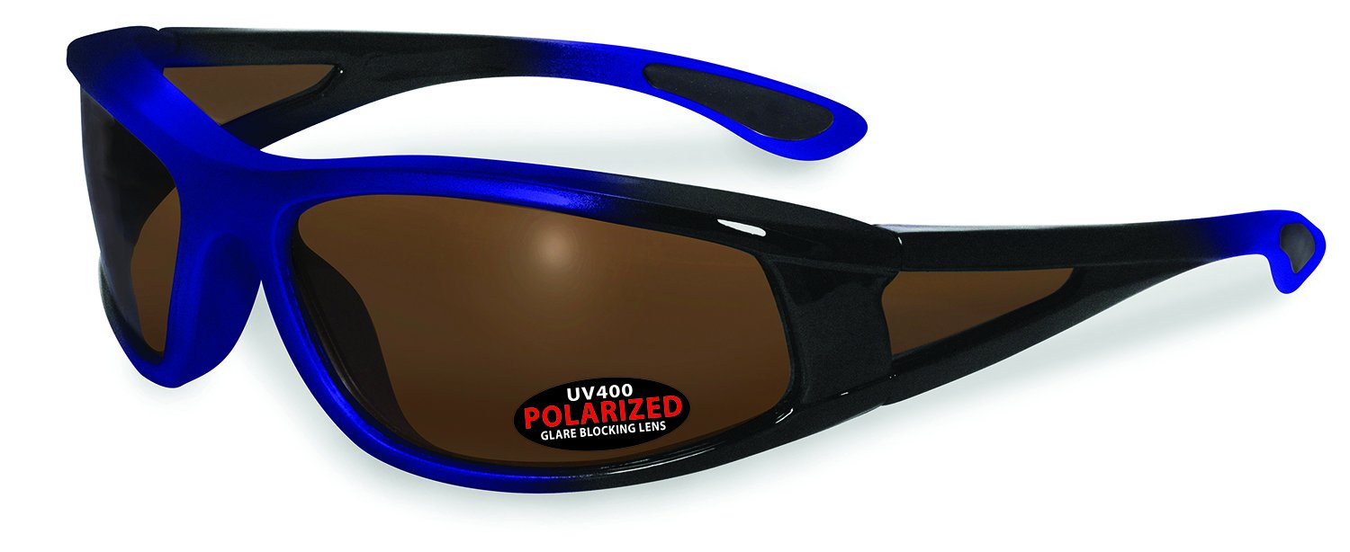 SSP Eyewear PUYALLUP BLU BRZ Unisex Polarized Sunglasses with Bronze Lenses, Blue by Specialized Safety Products