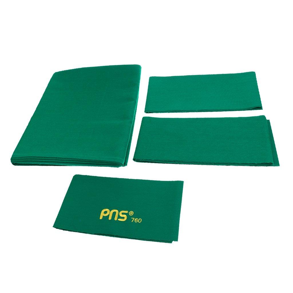 DYNWAVE フェルト ビリヤード プールテーブル クロス ベッドクロス 9フィートテーブルに適合 3色選べる グリーン