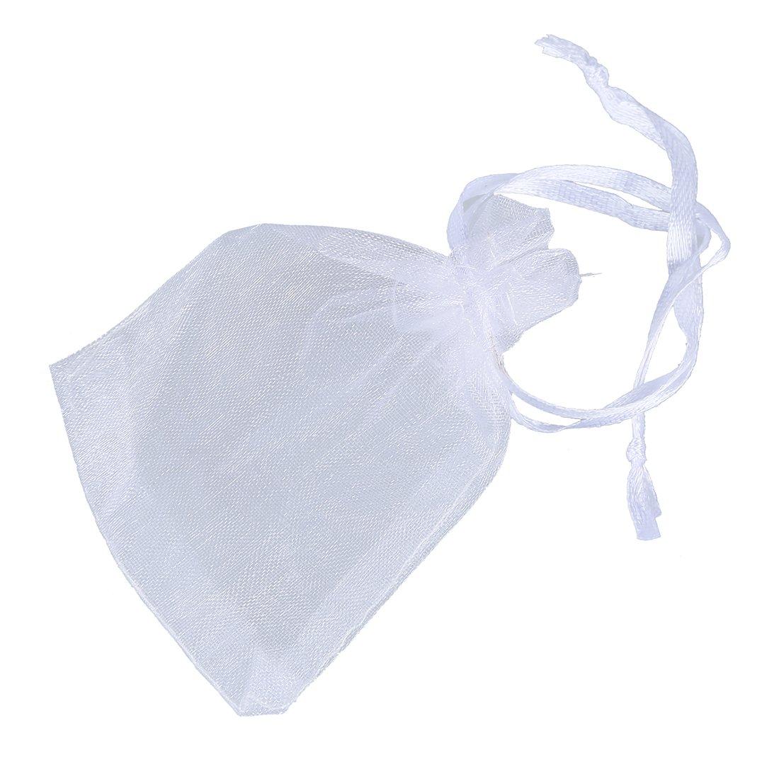 Organza Bag - SODIAL(R) Organza Bag White 7.5 x 10 cm Organza Bag - 50 Pack 010329