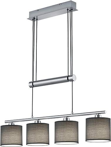 Lampenschirme grau Lampe Esstisch Küche Hängelampe GARDA 4flammig mit LED