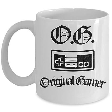 Beautiful Awesome Gaming Mug   OG Original Gamer Coffee U0026 Teacup   11oz Ceramic O.G.  Cup