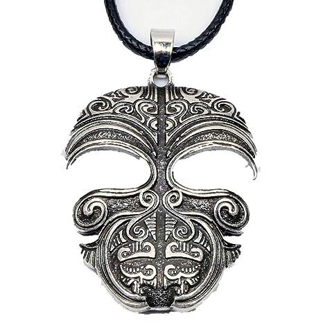 Davitu Ta Moko Maori - Collar con colgante de máscara de tatuaje ...