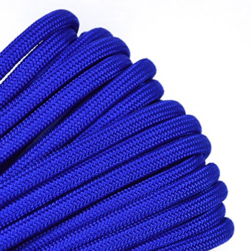 Electric Blue Mil-Spec Commercial Grade 550lb Type III Nylon Paracord - 50 Feet -