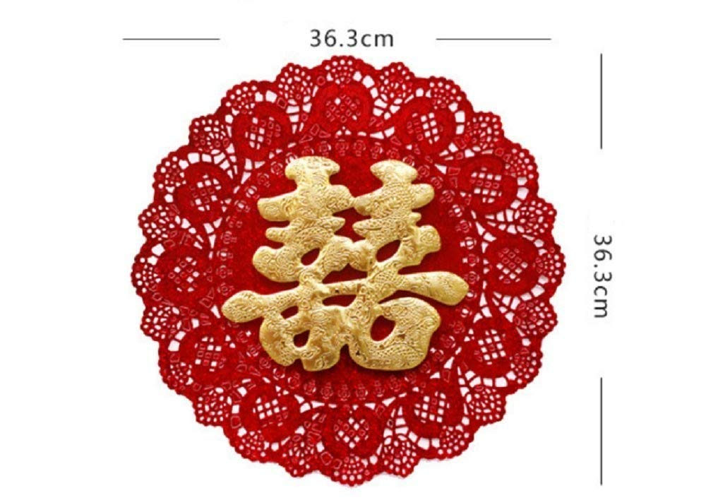 Free Shipping Wedding SuppliesRed Chinese Word Double Happiness 08 I