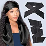 Xtrend 2Pcs Women's Satin Edge Scarves for Hair Laying Scarf for Lace Front Wig Non Slip Hair Wrap Wigs Grip Band for…