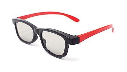 Ultra 4 Par de Rojo y Negro Gafas 3D Pasivo para Adultos para Uso ...