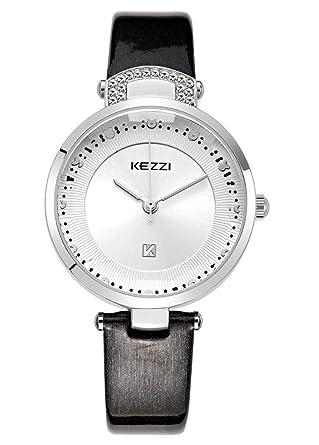 Amazon.com: Kezzi Womens Watch Fashion Quartz Cutting Glass ...