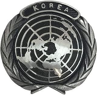 product image for Korean War Aluminum Grave Marker with Black Highlights, Cemetery Memorial Flag Holder, Korea Veteran Plaque, Made in USA