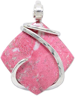 Bella Designs Womens Thulite Pendant Necklace 22 Pink