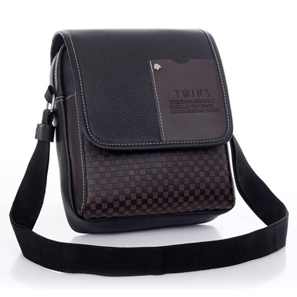 Asatr Men Casual Leather Shoulder Messenger Bag for Men Work Outdoor Crossbody Bag