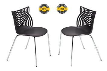 ottiti cat dining chairs set of 2 stack modern dining chairs mid century indoor