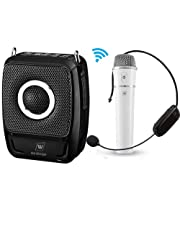 25W Portable Microphone with Speaker - Bluetooth Pa System Amplification Device, 4000mAh Rechargeable Lithium Battery Wireless Voice Amplifier Loudspeaker for Teachers,Tour Guide, Presentations, Singing ect
