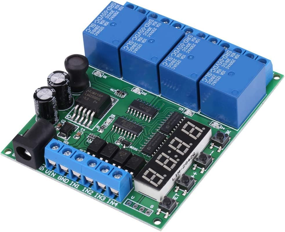 DXX-HR Tiempo de retardo multifunción, DC 4 canales Módulo del conmutador multifunción Tiempo de retardo del temporizador de retransmisión for R3 MEGA 2560 1280 DSP ARM PIC AVR STM32 frambuesa