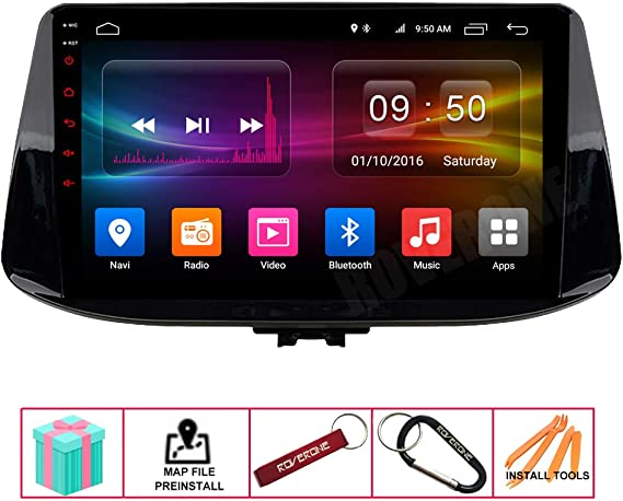 Roverone Android System Car Gps Radio For Hyundai I30 2017 2018 With Multimedia Stereo Navigation Dsp Bluetooth Mirror Link Navigation Car Hifi