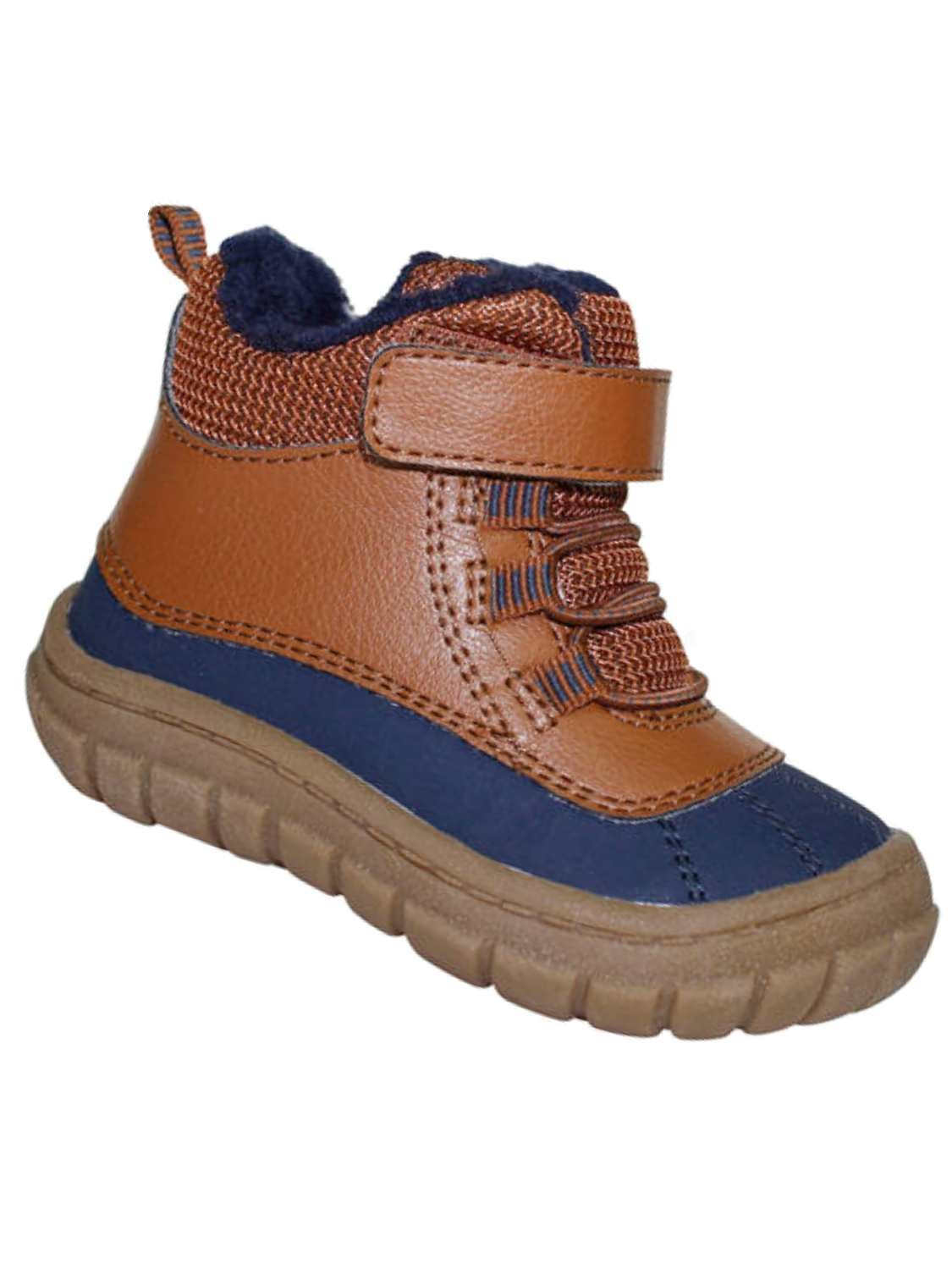 Garanimals Toddler Boys Brown & Blue Rubberized Work & Hiking Boots Shoes 5