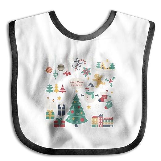 39b8c7e4c Amazon.com  Christmas Tree Snowman Funny Baby Bibs Burp Infant ...