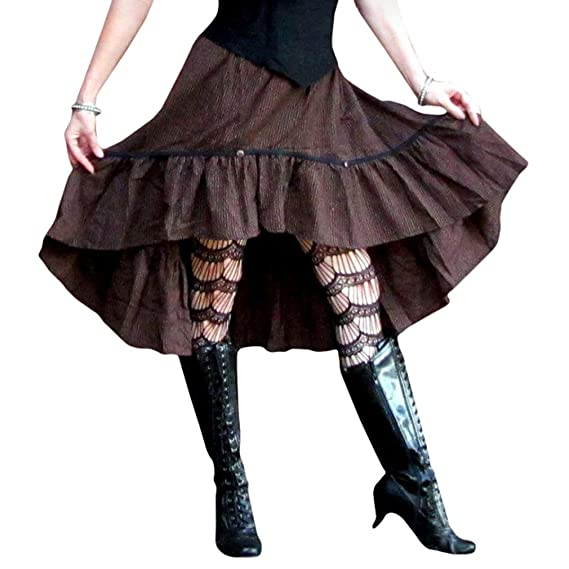 Hibote Mujer Vintage Falda de Sirena Gótico Steampunk Faldas ...