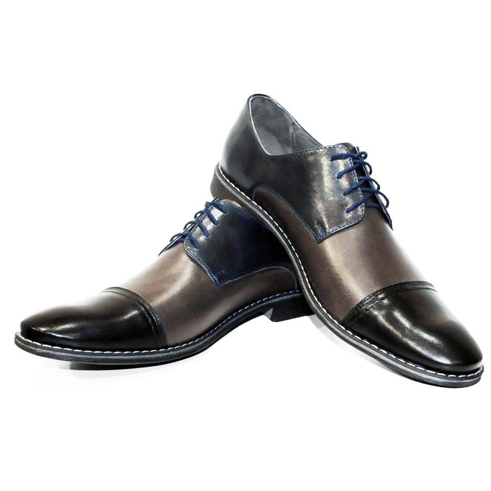 Modello Masorro Masorro Masorro - Handgemachtes Italienisch Leder Herren Grau Oxfords Abendschuhe Schnürhalbschuhe - Rindsleder Weiches Leder - Schnüren 5c1d75