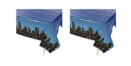Amazoncom Superhero Tablecloths Photobooth Backdrop Party Supplies