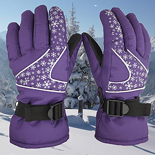 Glumes Waterproof Windproof Men Women -30℃ Ski Gloves Winter Warm Snowboard Snowmobile Cold Weather Gloves Suitable