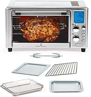 Emeril Lagasse Power AirFryer 360 Better Than Convection Ovens Hot Air Fryer Oven, Toaster Oven, Bake, Broil, Slow Cook and More Food Dehydrator, Rotisserie Spit, Pizza Function Cookbook