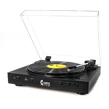 VMO Tocadiscos estéreo Totalmente automático con USB, Reproductor ...