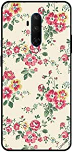 For For OnePlus 7T Pro Case Cover Small Flowers With Green Leaves Floral Pattern