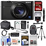 Cheap Sony Cyber-Shot DSC-RX100 VA 4K Wi-Fi Digital Camera with 64GB Card + Case + Battery + Charger + Tripod + Flash + Kit
