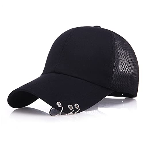 Image Unavailable. Image not available for. Color  Xuzirui BTS Baseball Cap  K-Pop Bangtan Boys Outdoor Iron Ring Hat Casual Adjustable Dad c69f30a6e67a
