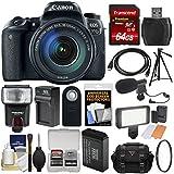 Canon EOS 77D Wi-Fi Digital SLR Camera & EF-S 18-135mm is USM Lens + 64GB Card + Case + Flash + Video Light + Battery & Charger + Tripod + Filter Kit