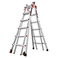 Little Giant Ladders, Velocity with Wheels, M26, 13-23 Foot, Multi-Position Ladder, Aluminum, Type 1A, 300 lbs Weight Rating, (15426-001)