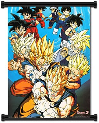 Dragon Ball Z Anime Fabric Wall Scroll Poster 32 X 40 Inches Amazon Co Uk Office Products