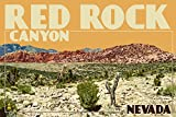 Red Rock Canyon - Las Vegas, Nevada (9x12 Collectible Art Print, Wall Decor Travel Poster)