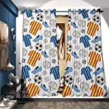 Best Div X Players - BlountDecor Room Darkening Wide Curtains Sports Clothes Professional Review